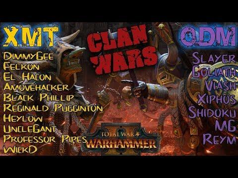 CLAN XMT vs CLAN ODM - CLASSIC CLAN WAR - Total War: Warhammer 2 | Competitive Showdown