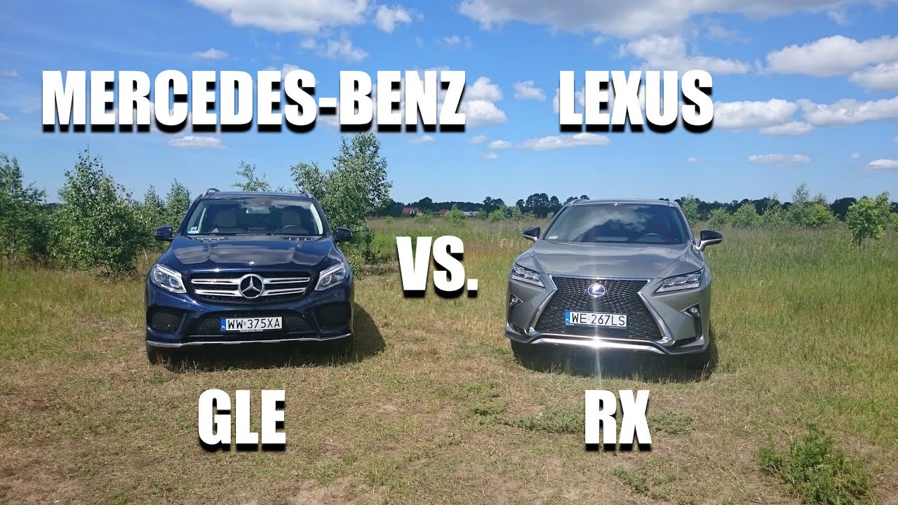 mercedes-benz gle vs. lexus rx (eng) - sideside comparison - youtube