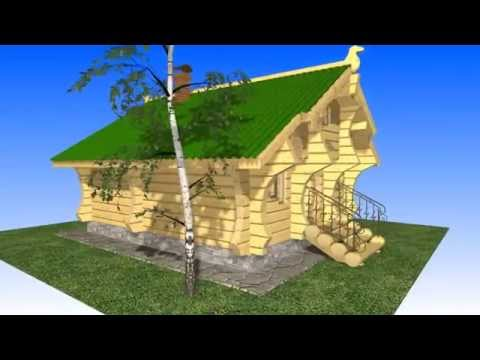 K3-Cottage software project. Russian Fairy Tale Log House.