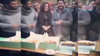 أخبار اليوم | تامر حسني  يحتفل بعيد ميلاد درة
