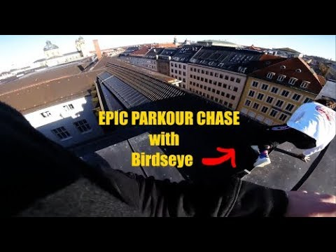 Epic Parkour POV Chase On Munich Rooftops w. Birdseye/ GoPro HERO4Session