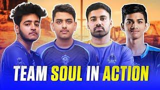 Intense 4v4 Fight In Final Circle    Miramar Highlights    Team SouL    PUBG Mobile