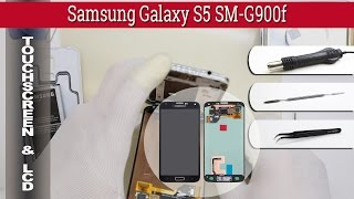 how to replace separate lcd touch screen samsung galaxy s5 sm g900f part 1