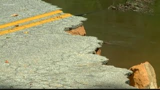 Road Washed Out in Darlington County