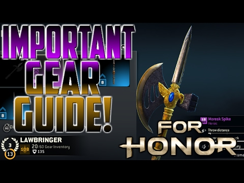 [For Honor] Important Gear Guide!