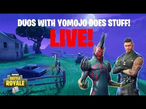 FORTNITE DUOS WITH YOMOJO DOES STUFF