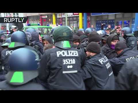 Scuffles break out as protesters disrupt AfD's 'Women's March' in Berlin