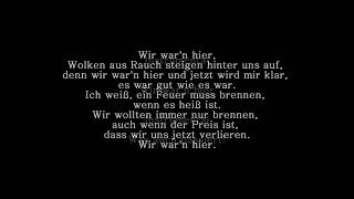 Jennifer Rostock - Wir waren hier | Lyrics