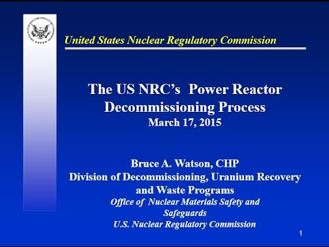Power Reactor Decommissioning