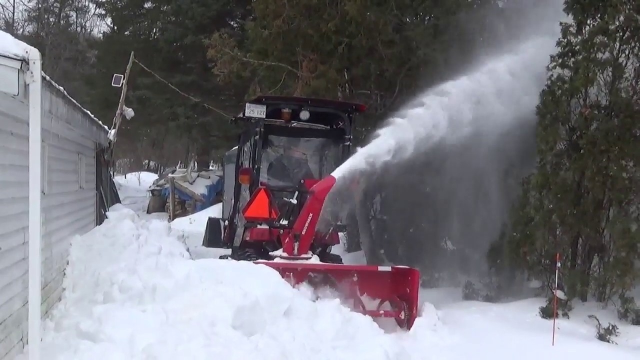 Your meteor snowblower is too big for your GC1710