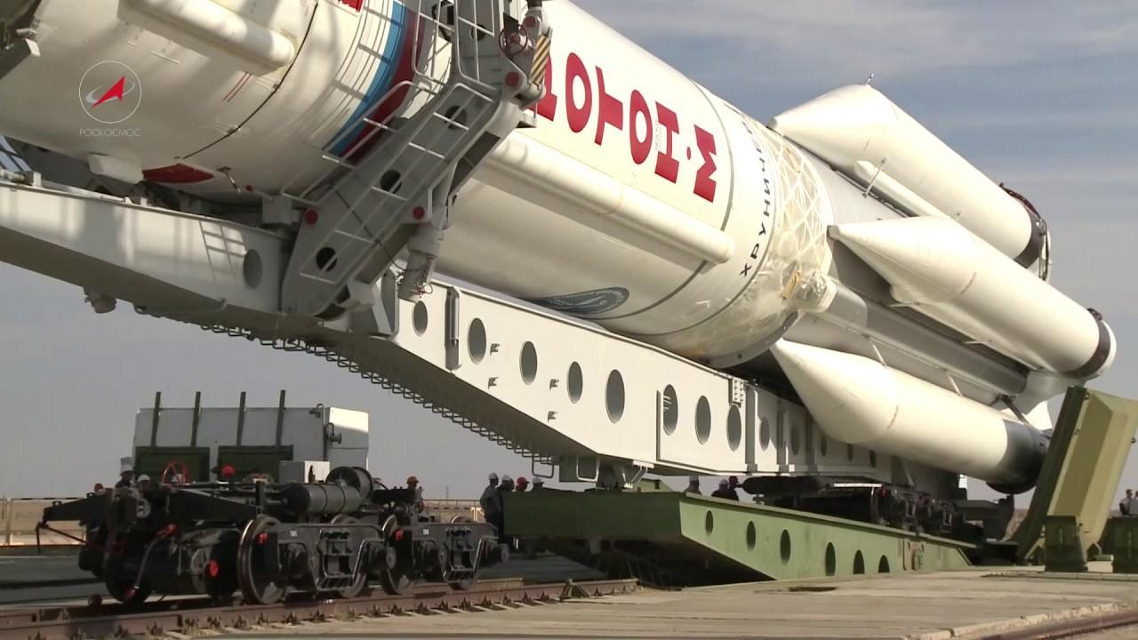 Вывоз РКН «Протон-М» с КА «Амазонас-5»