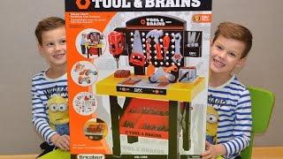 Инструменты детские. Детская мастерская | верстак-стол для детей и набор инструментов