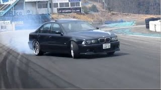 Garage GTM BMW M5 V8 5L 400PS 6MT 22in Z3 2L 140PS NISSAN C35 Wataru Mizutani  EBISU Japan drifting