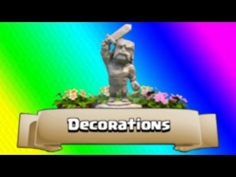 Clash of Clans - LETS LOAD OUR BASE WITH DECORATIONS!!