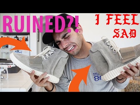 RUINED MY YEEZYS?!! - HOW TO WEAR YEEZY BOOST 350 and 750 Unboxing