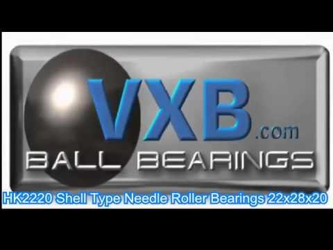 HK1412 Shell Type Needle Roller Bearings 14x20x12