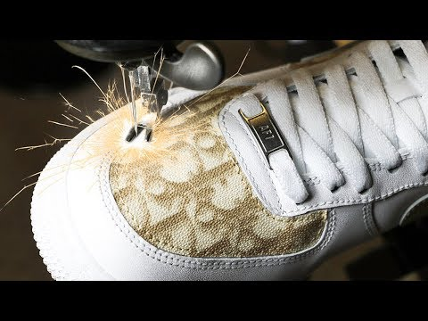 """Crazy Custom """"DIOR"""" Air Force 1's from a real bag! (EXPENSIVE!!$)"""
