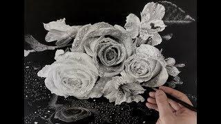 Hyperrealism/ Hyperrealistic roses drawing