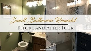 SMALL BATHROOM REMODEL (BEFORE AND AFTER TOUR)