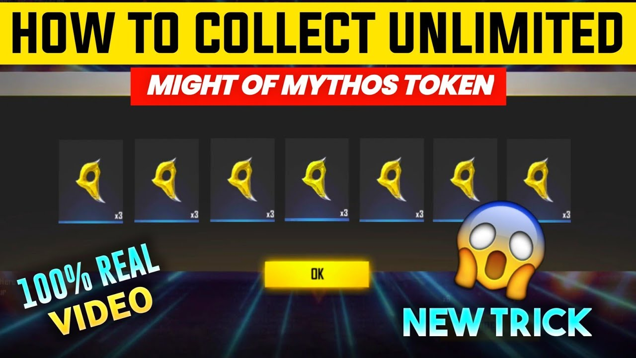 HOW TO COLLECT UNLIMITED RAMPAGE TOKEN IN FREE FIRE || UNLIMITED MIGHT OF MYTHOS TOKEN TRICK FF