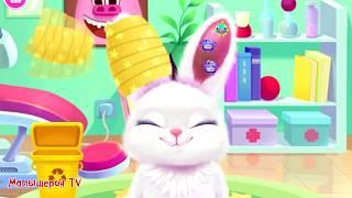 Видео для детей про малышей животных | Ухаживаю за кроликом и пандой в детской игре