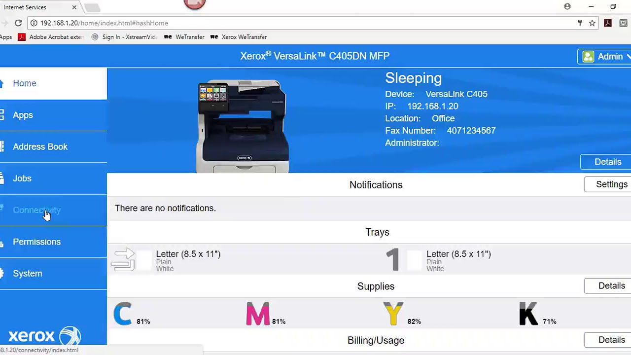 Xerox Versalink Adding Ldap Server Information Youtube