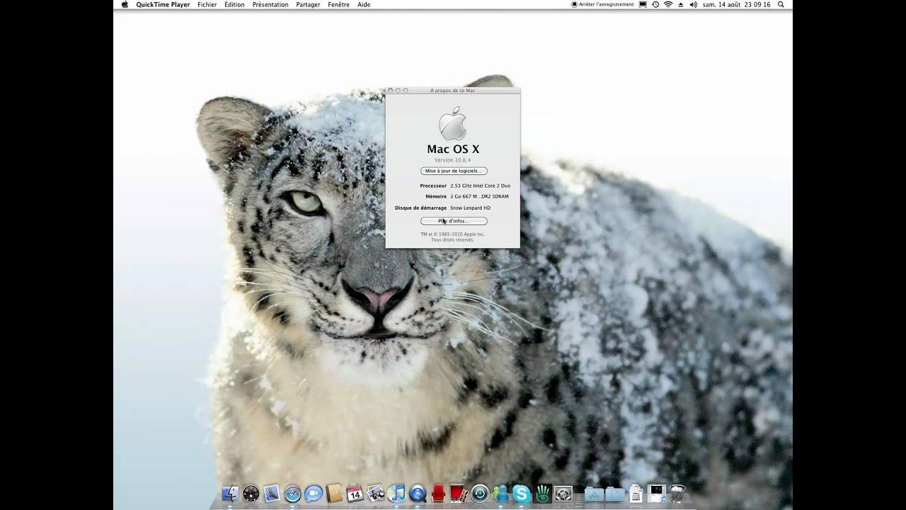 mise a jour mac os x 10.6 snow leopard