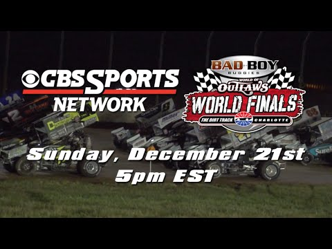 Bad Boy Buggies World of Outlaws World Finals Night #2: Sunday, Dec. 21st on CBS Sports Network