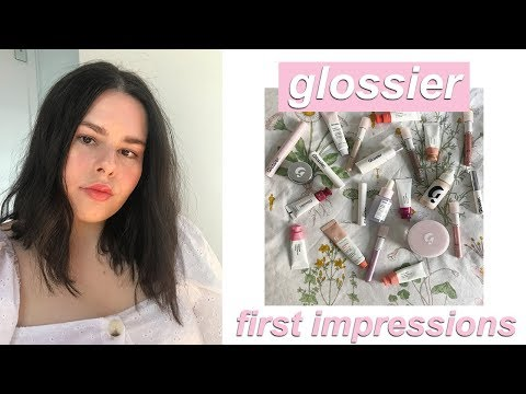 GLOSSIER FIRST IMPRESSIONS! | KENZIE thumbnail