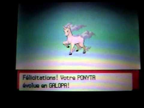 Evolution de ponyta shiney sur pokemon diamant youtube - Evolution pokemon diamant ...