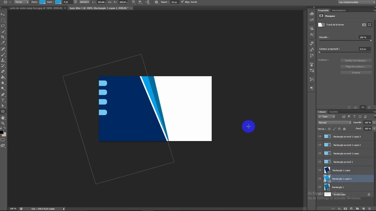 Photoshop Design Concevoir Une Carte De Visite Pro En Moins 15 Min
