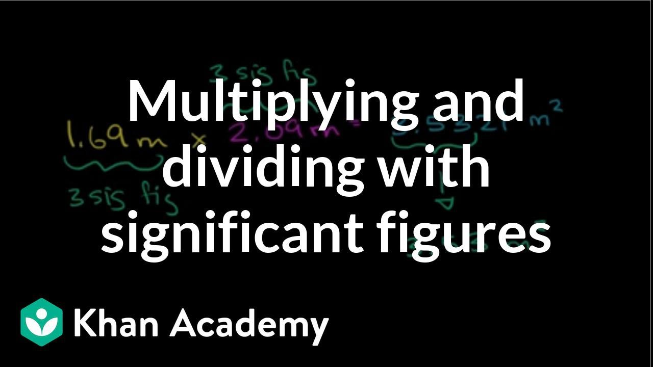 Dividing With Significant Figures
