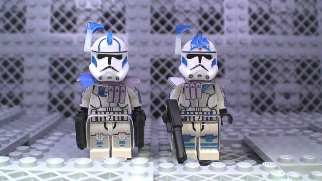 Lego Star Wars minifigures Echo /& Fives 501st Clone Custom Troopers