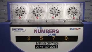 Evening Numbers Game Drawing: Monday, April 30, 2018