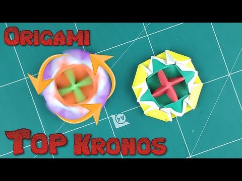 How to Make a Paper Spinner Battle Blade Tutorial | Origami Top Kronos Paper l DIY Paper Spinning