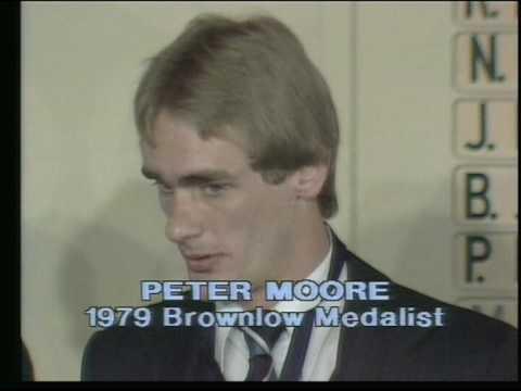 Peter Moore Wins 1979 Brownlow Medal.