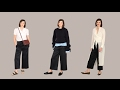 How to style wide-legged trousers three ways   How to wear a classic