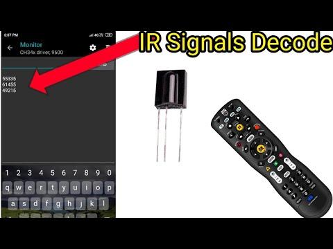 How to Decode IR remote Singnel Using Arduino | IR Signals Decode Using  Smartphone