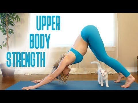 No More Arm Flab! Yoga for Strength & Flexibility, Beginners Yoga Class at Home with Lindsey