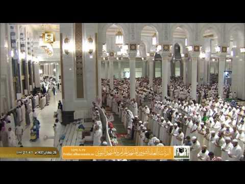 صلاة التروايح ليلة 27 رمضان 1437 : الشيخين عبدالله الجهني وماهر المعيقلي