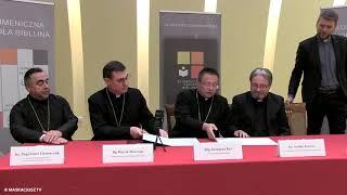 Ekumeniczna Szkoła Biblijna | Podpisanie aktu erekcyjnego