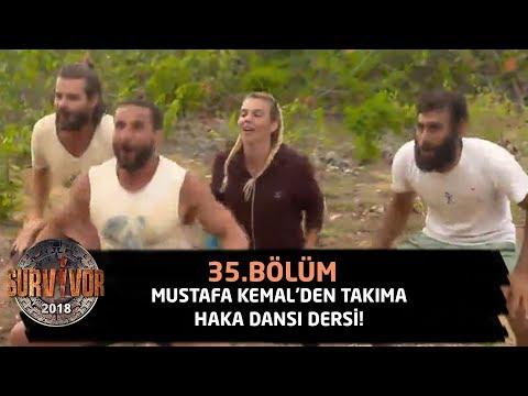 Mustafa Kemal'den takıma haka dansı dersi!   35.Bölüm   Survivor 2018