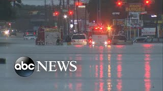 Rising waters inundate whole section of Houston