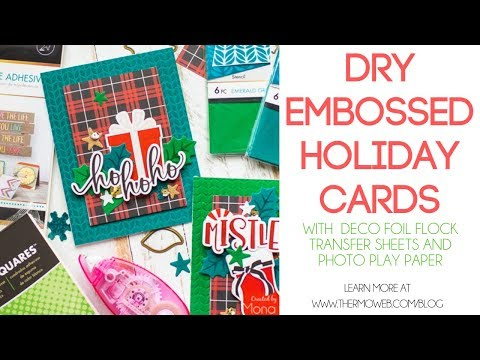 Holiday Cards with Deco Foil Flock + Photo Play Paper