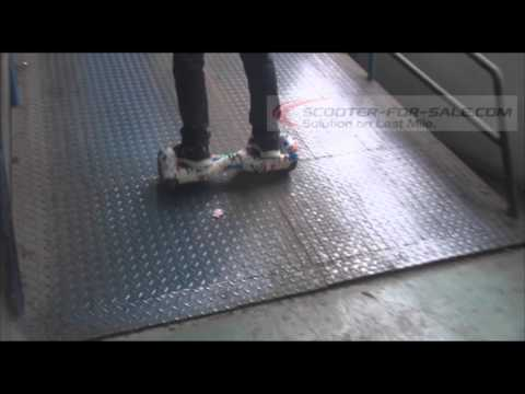 Balance Scooter Downhill and Uphill Demostration in Factory