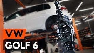 Kā nomainīt aizmugurējie svira VW GOLF 6 (5K1) [PAMĀCĪBA AUTODOC]