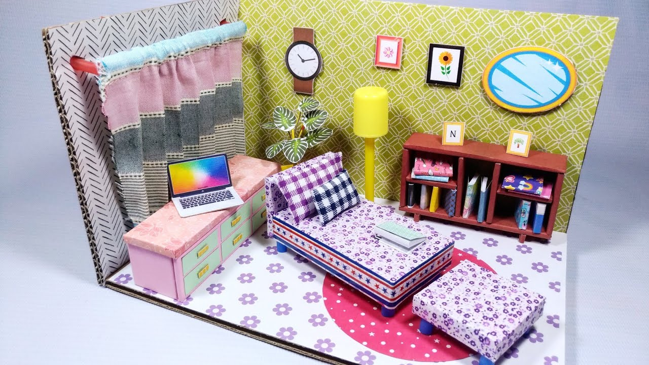 Relaxing Room Diy Cardboard Miniature Relaxation Room Ideas Youtube