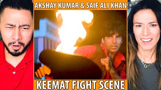 AKSHAY KUMAR & SAIF ALI KHAN | KEEMAT | FIGHT SCENE REACTION | Jaby Koay & Megan Le