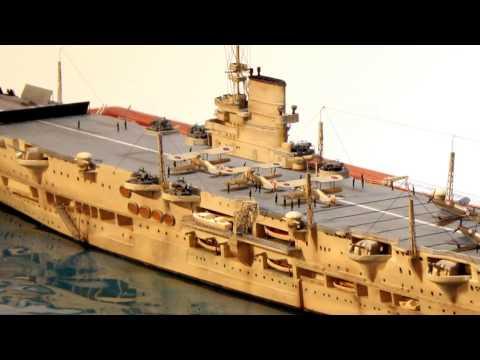 Aircraft Carrier HMS Ark Royal - 1:700 - built by Bernd Villhauer , PMC Südpfalz
