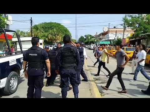 Una humillación mas hacia los policías de salina cruz